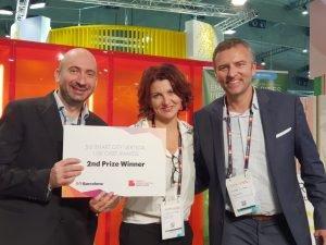 Martel CTO Dr Federico Facca, CEO Dr Monique Calisti and Dr Sergi Figuerola Director of i2CAT
