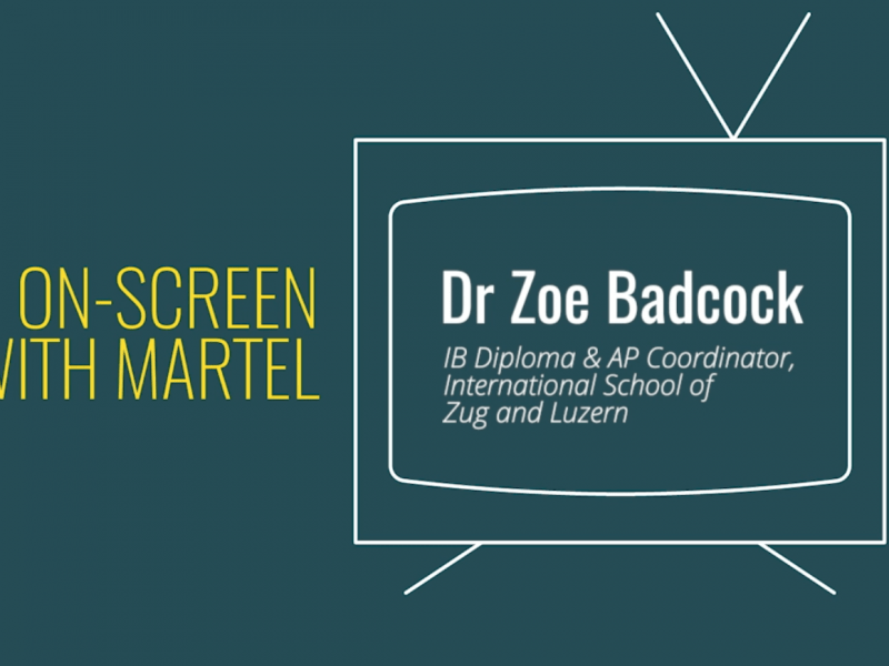 on-screen with Martel